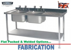 FABRICATION - CATERING SINKS - K.F.Bartlett LtdCatering equipment, refrigeration & air-conditioning